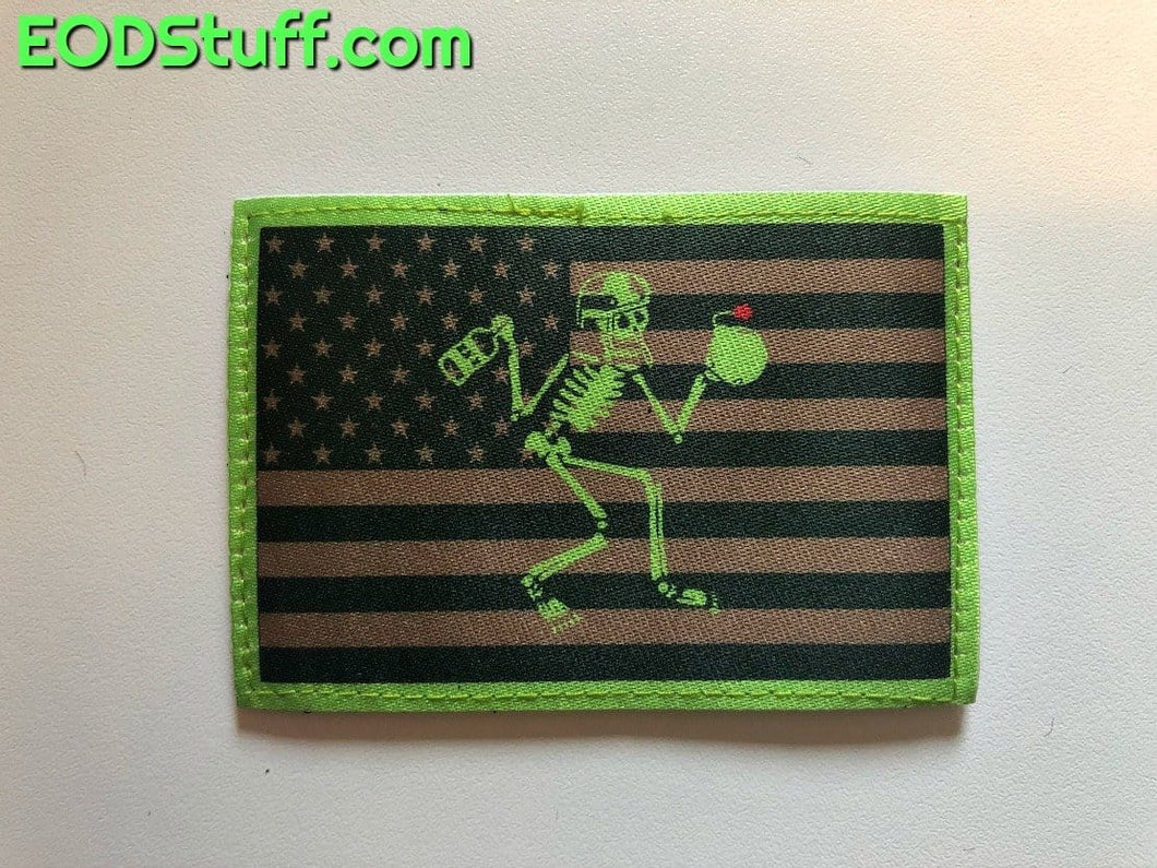 Patriotic Skeebb Patch - Nuke Green EOD Patch