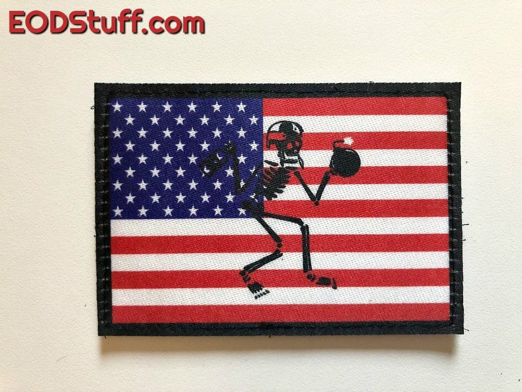 Patriotic Skeebb Patch - Red, White, and Blue EOD Patch