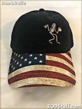 Skeebb Black with United States Flag Visor Low Profile Hat - EOD Hats