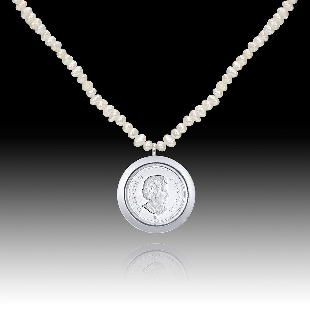 Queen Elizabeth </br> Nickle Pearl Pendant </br> Canada
