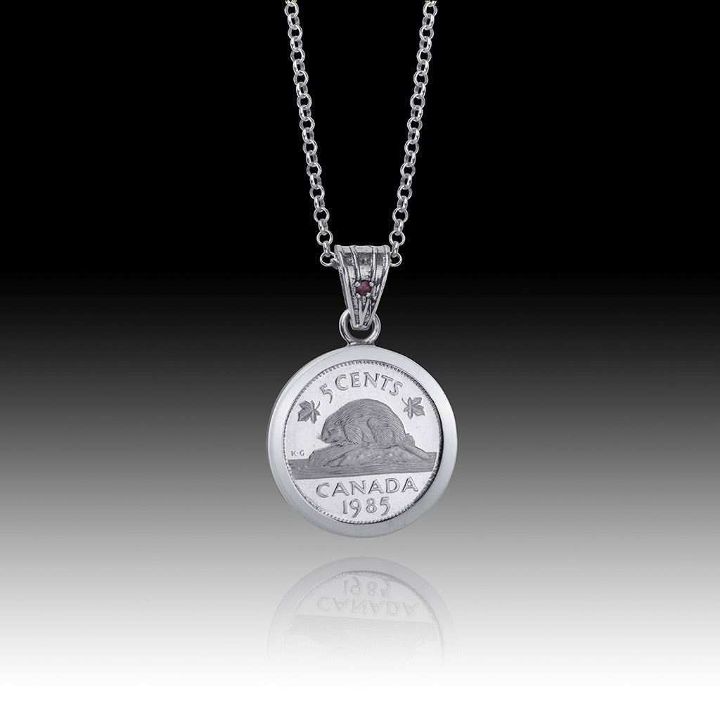 QUEEN ELIZABETH II </br> NICKEL Bail PENDANT </br> Canada
