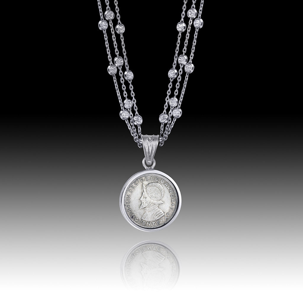 Panama - Balboa </br> Three Chain Dime Pendant