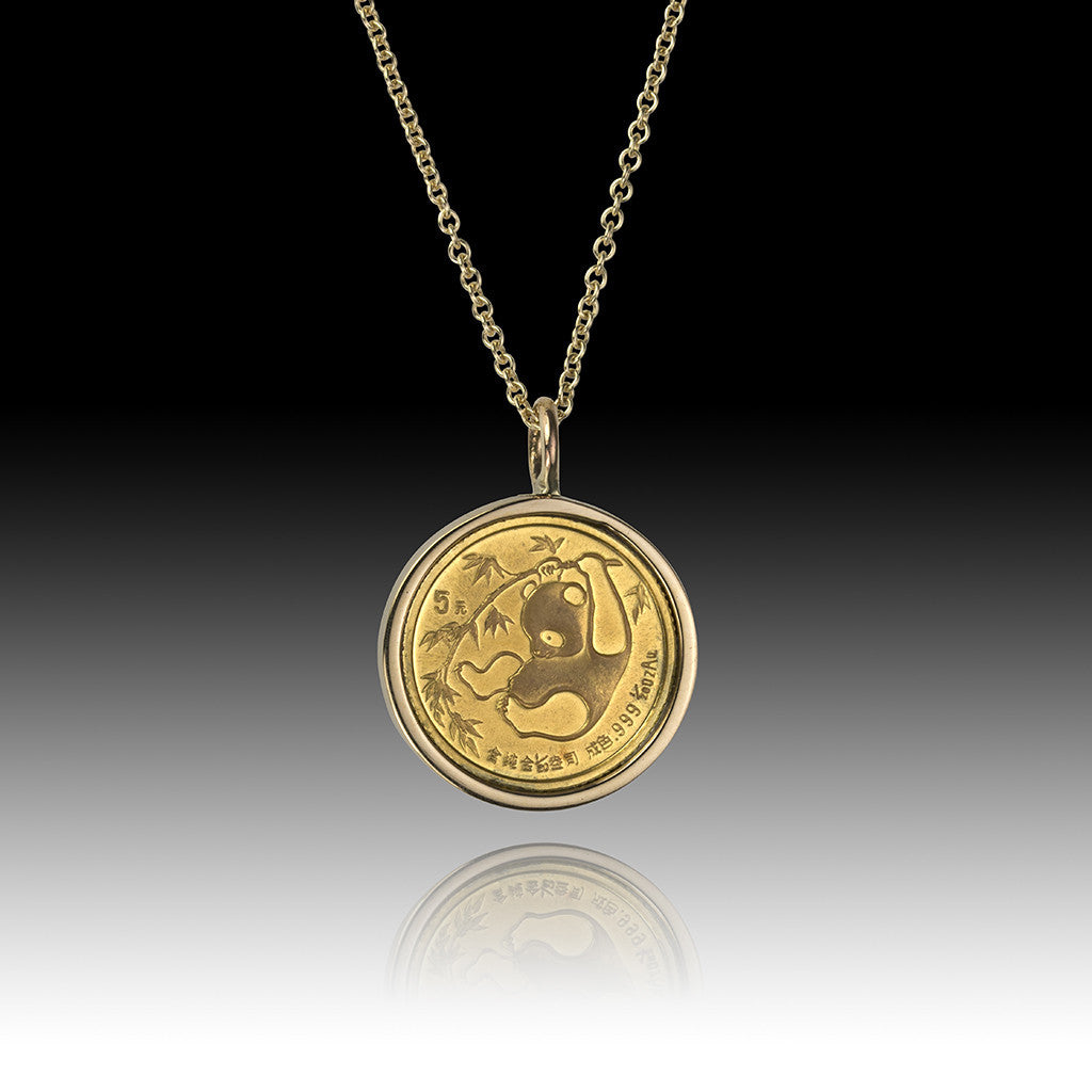 China - Panda </br> Gold 20 Yuan Pendant