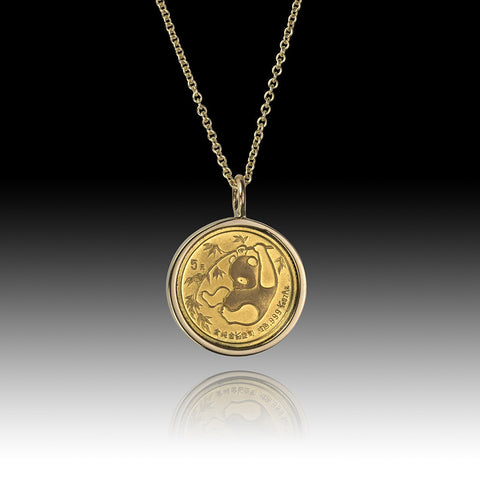 China - Panda </br>  Gold 5 Yuan Pendant