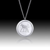 Queen Elizabeth </br> Little Wild Ones - Moose Calf Fifty Cent Pendant </br> Canada