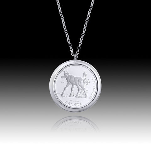 China - Panda </br> Smooth Edge Silver 10 Yuan Pendant