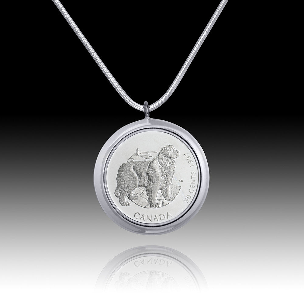 Queen Elizabeth </br> Best Friends - Newfy Fifty Cent Pendant </br> Canada