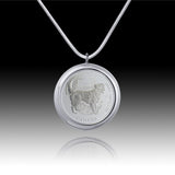 Queen Elizabeth </br> Best Friends - Retriever Fifty Cent Pendant </br> Canada