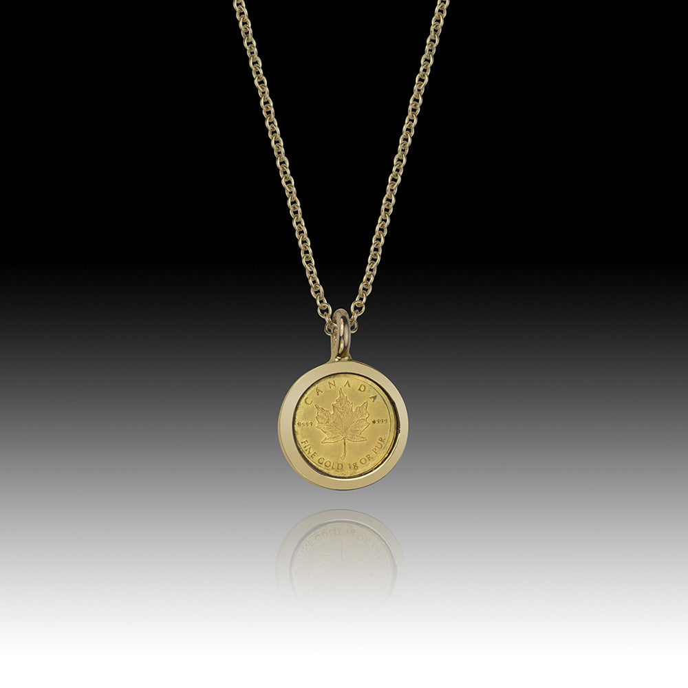 One Gram Gold Bullion Coin Pendant Canada