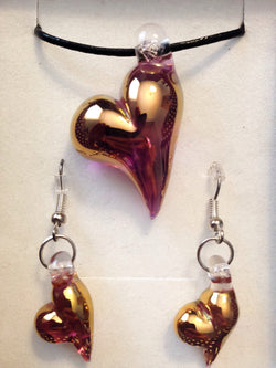 24k Gold Heart Set