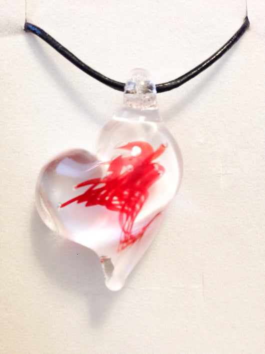 Heart of the Ocean Pendant (White backing)