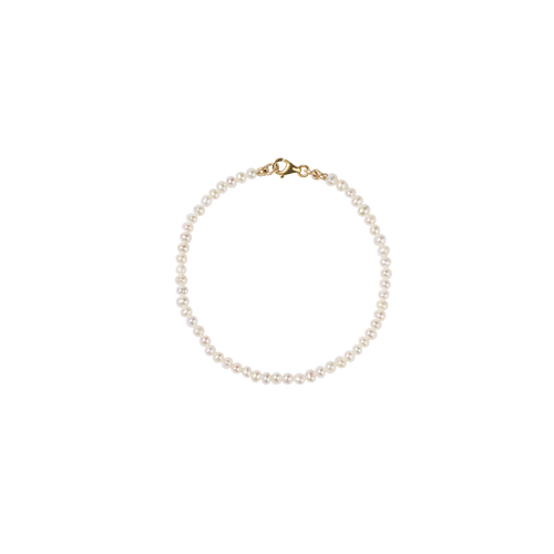 Micro Pearl Bracelet | 9ct Yellow Gold