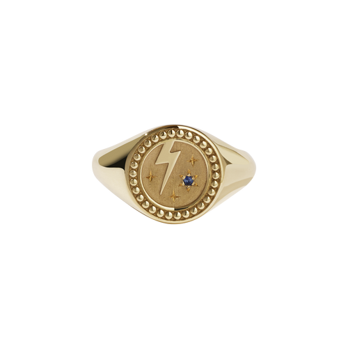 Amulet Strength Signet Ring | Gold Plated