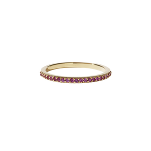 Sapphire Eternity Band | 9ct Yellow Gold