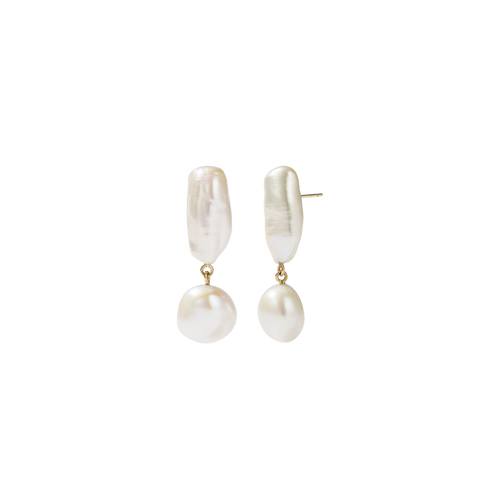 Joy Pearl Earrings | 9ct Yellow Gold