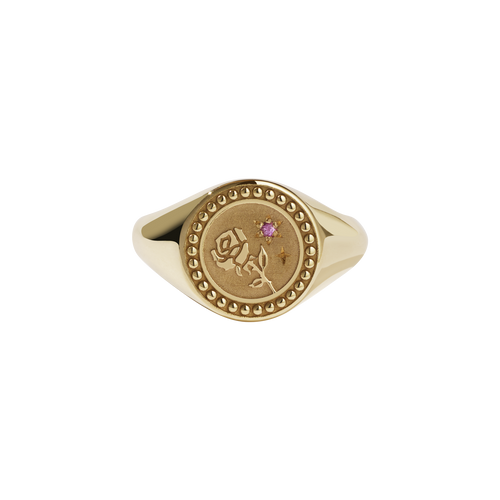 Amulet Love Signet Ring | Gold Plated