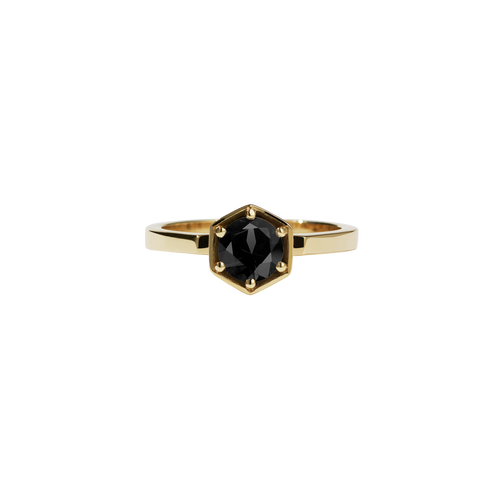 Hexagon Solitaire 0.6ct | 9ct Yellow Gold