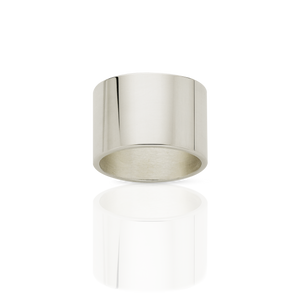 12mm Plain Band | 9ct White Gold