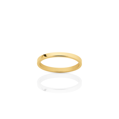 2mm Plain Band | 18ct Yellow Gold