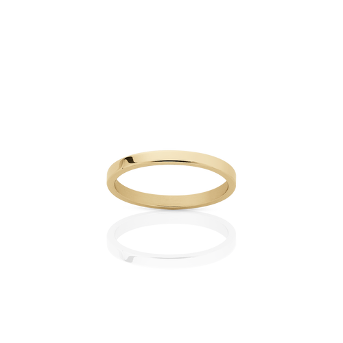 2mm Plain Band | 9ct Yellow Gold
