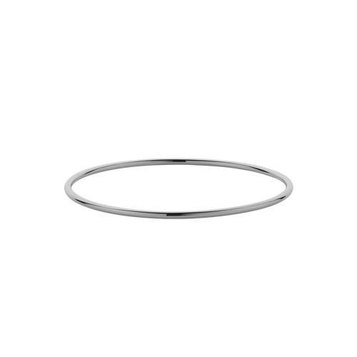 2mm Round Bangle | Sterling Silver