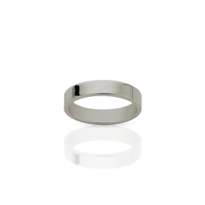 3mm Plain Band | 18ct White Gold
