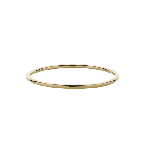 3mm Round Bangle | 9ct Yellow Gold