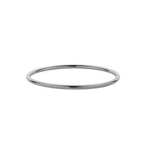 3mm Round Bangle | Sterling Silver