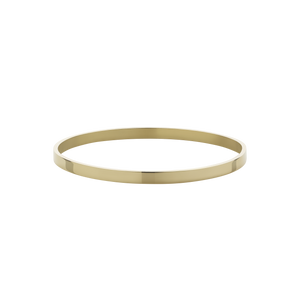 4mm Flat Bangle | 9ct Yellow Gold