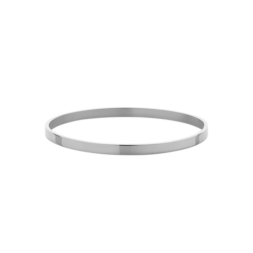 4mm Flat Bangle | Sterling Silver