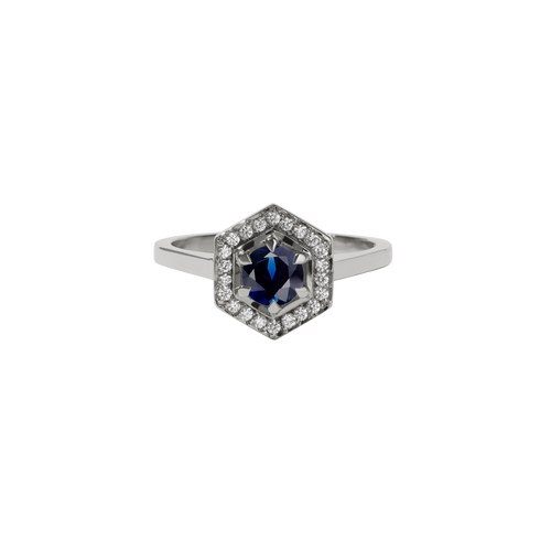 Hex Engagement Ring 0.5ct | Platinum