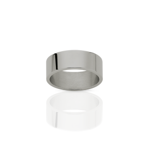 6mm Plain Band | 18ct White Gold