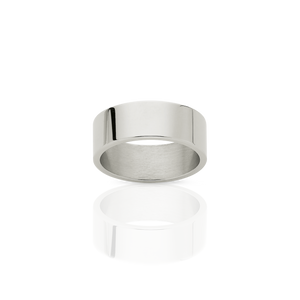 6mm Plain Band | 9ct White Gold