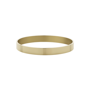 8mm Flat Bangle | 9ct Yellow Gold