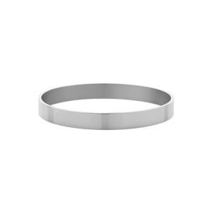 8mm Flat Bangle | Sterling Silver