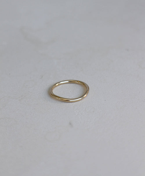 Amelie Band Plain | 18ct White Gold