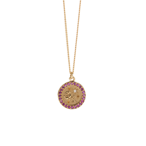 Amulet Love Necklace Pave | 9ct Yellow Gold