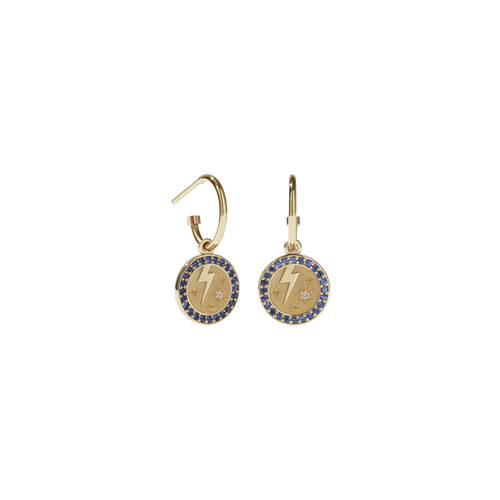 Amulet Strength Earrings Pave | 9ct Yellow Gold