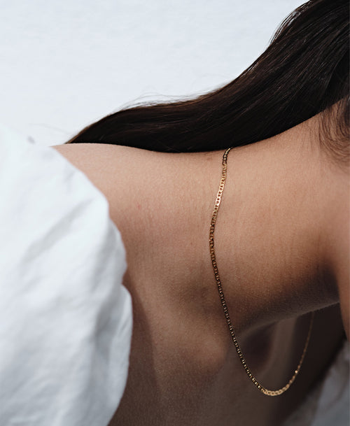 Anchor Chain Necklace | Gold Plated