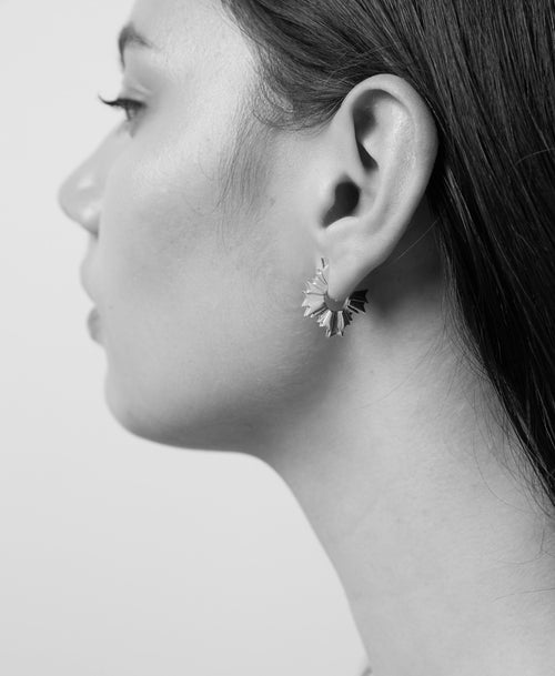 August Hoop Earrings | Sterling Silver