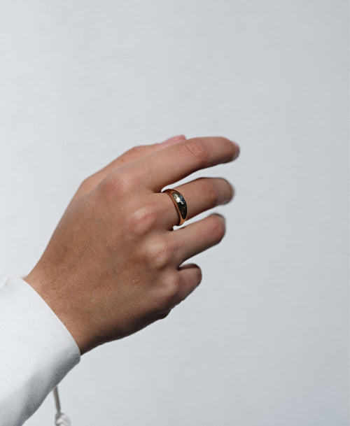 Claude Ring Plain | Gold Plated
