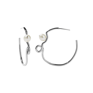 Clio Hoop Earrings | Sterling Silver