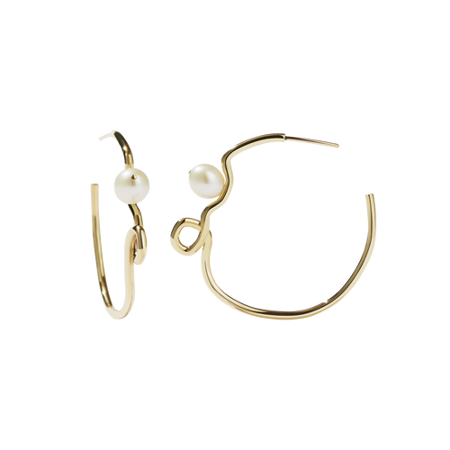 Clio Hoop Earrings | 9ct Yellow Gold