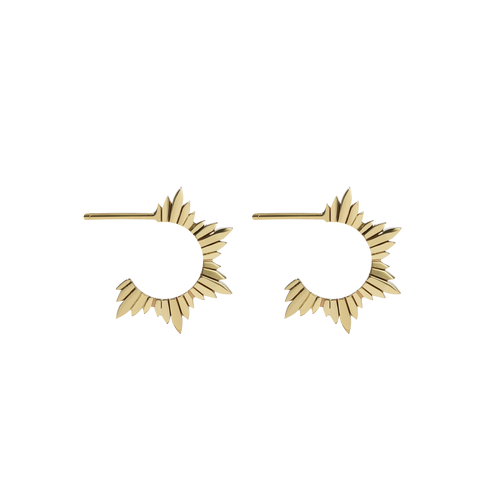 Maiden Hoop Earrings Medium | Gold Plated