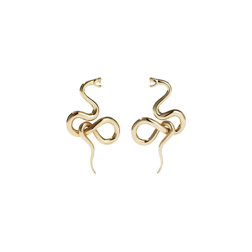 Medusa Earrings Medium | 9ct Yellow Gold