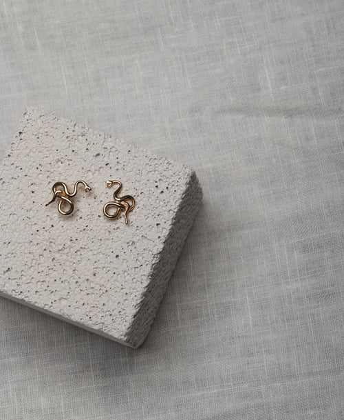 Medusa Stud Earrings | Sterling Silver