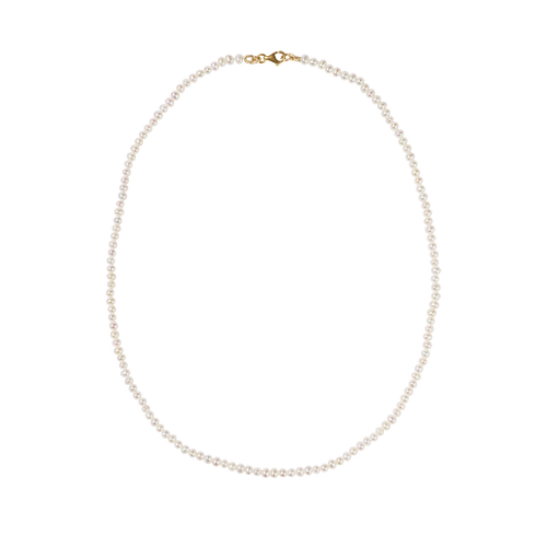 Micro Pearl Necklace | 9ct Yellow Gold