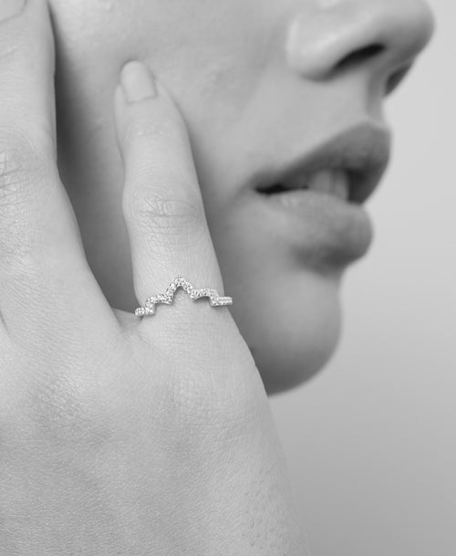 Petal Eternity Band | 18ct White Gold