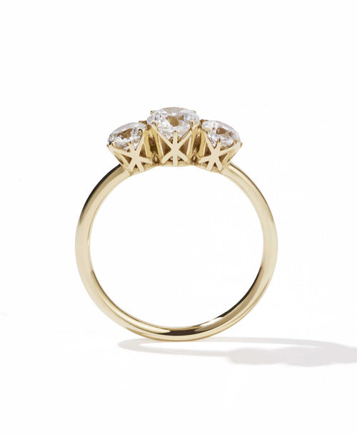 Signature 3 Stone Ring | 14ct Yellow Gold