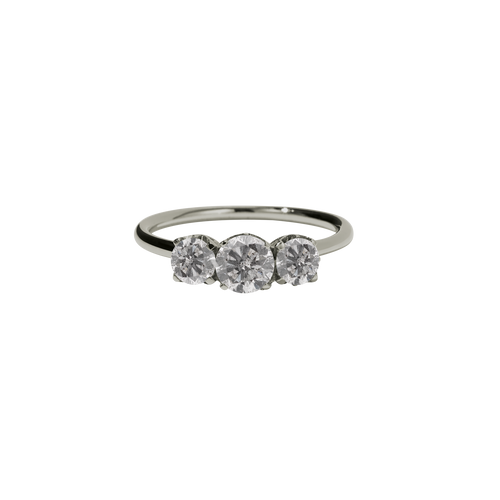 Signature 3 Stone Ring | 18ct White Gold